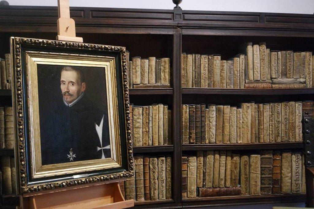 """Casa Museo Lope de Vega. """"La pieza invitada"""" (2016). Retrato de Lope de Vega, Eugenio Cajés, hacia 1627. Museo Lázaro Galdiano."""