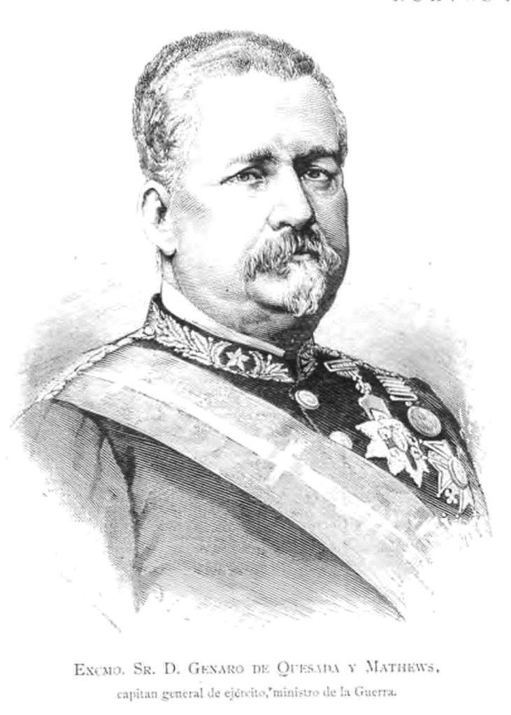 """Fig. 1. Genaro de Quesada y Mathews. """"La Ilustración Española y Americana"""", XXXVIII, nº 4, Madrid, 30 de enero de 1884, p. 60."""