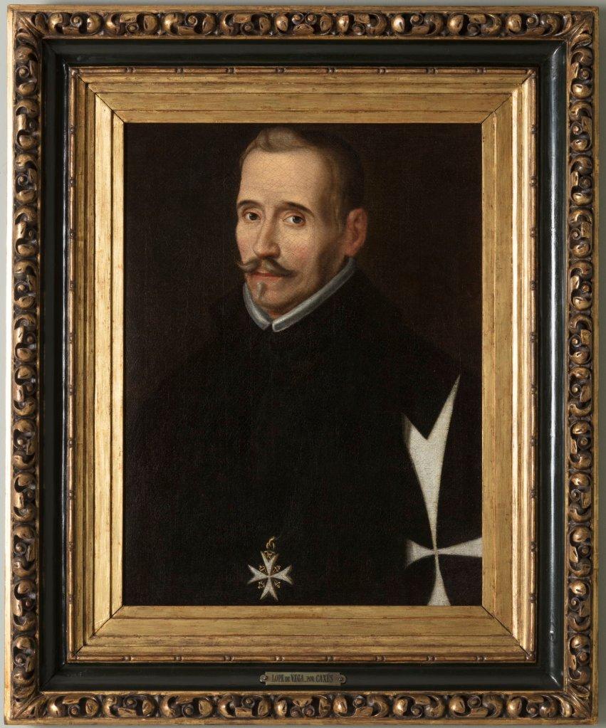 EUGENIO CAJÉS: Retrato de Lope de Vega (ca. 1627). Museo Lázaro Galdiano