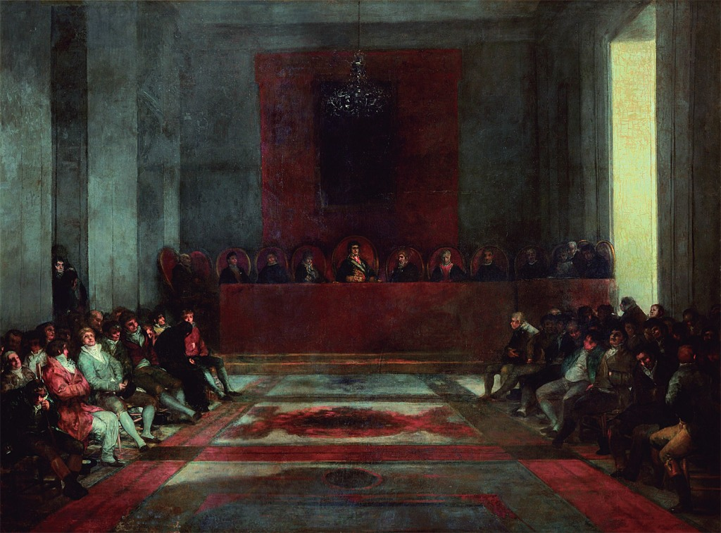 Francisco de Goya: La Junta General de la Real Compañía de Filipinas, 1815. Museo Goya–Museo de Arte Hispánico, Castres