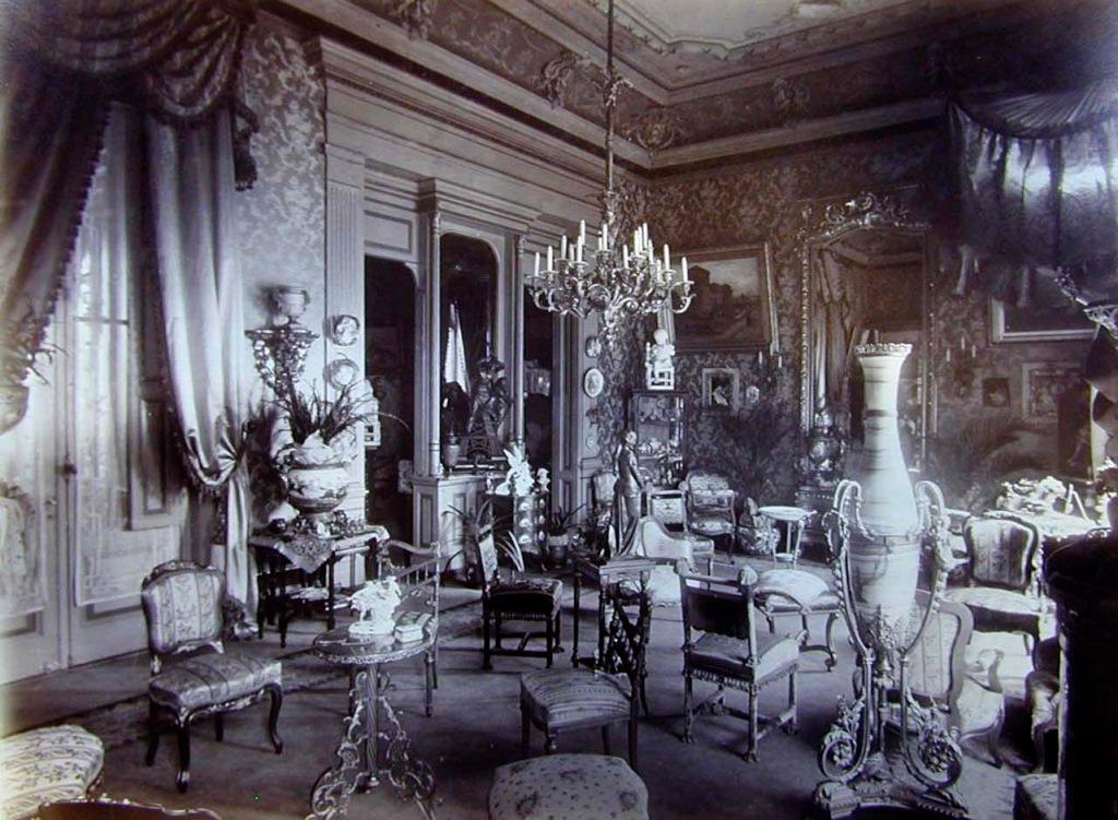 Foto 10. Salón de la casa de Paula Florido en la calle Lavalle de Buenos Aires.