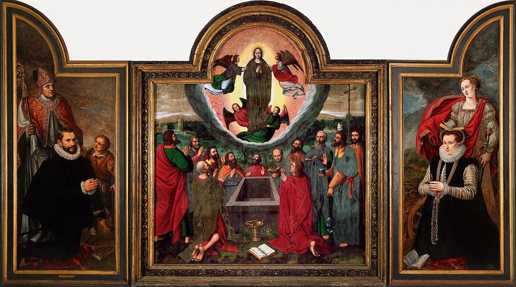 Fig. 1. Tríptico de Orduña. Reconstrucción virtual por José Mª Martín. Actualmente, la tabla central en colección particular.