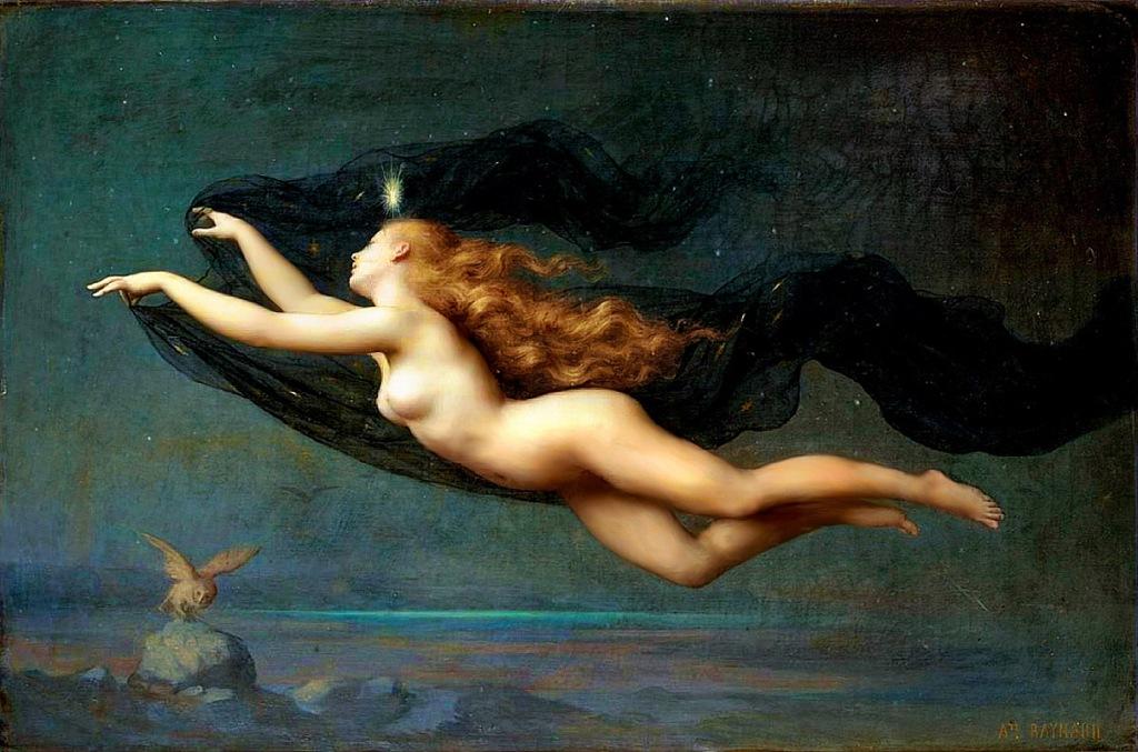 """Auguste Raynaud. """"La Noche"""". 1887. Óleo sobre tela, 54 x 81 cm. Colección particular"""