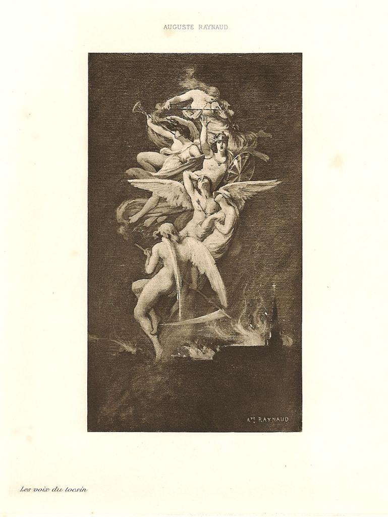 Auguste Raynaud. Les voix du tocsin. 1897. Grabado sobre papel, 270 x 210 mm. Colección particular.